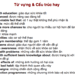 Bài mẫu IELTS Writing Task 2 Topic Health