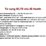 từ vựng ielts chủ đề health
