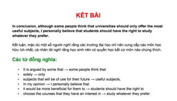 cách viết kết bài ielts writing task 2