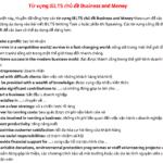 từ vựng ielts chủ đề business and money