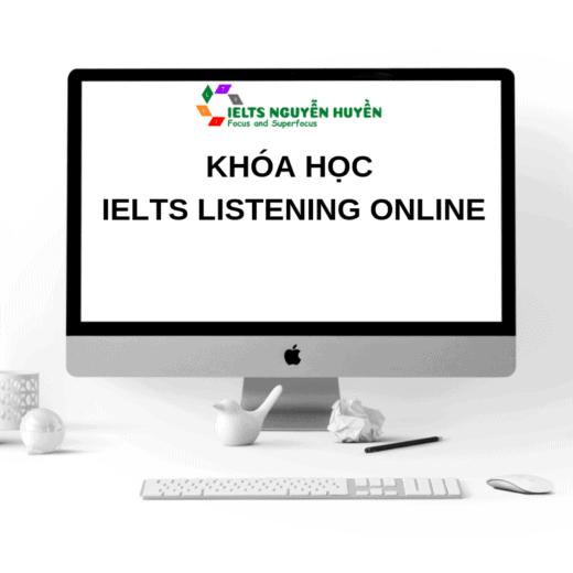 khoa hoc ielts listening online