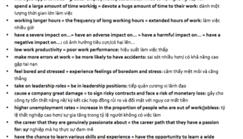 paraphrasing chủ đề work
