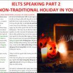 IELTS Speaking Part 2 – Describe a non-traditional holiday in your country