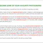 IELTS Speaking Part 2 – Describe one of your favourite photographs