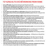Từ vựng IELTS chủ đề Working from home